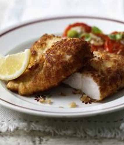 Crispy Parmesan Chicken with Soft Basil Tomatoes - Gary Rhodes