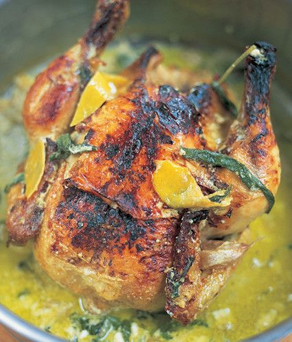 Chicken in milk with sage and a delicious lemony kick - Jamie Oliver